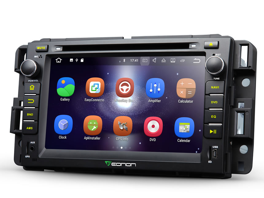 Chevrolet, GMC & Buick Newest Android 7.1 Car GPS Navigation System 7 Inch Auto Radio Upgrade HD 1024*600 Touch Screen Car Auto Stereo Upgrade with Bluetooth Compatible With Bose System RAM 2GB Factory Car Stereo System