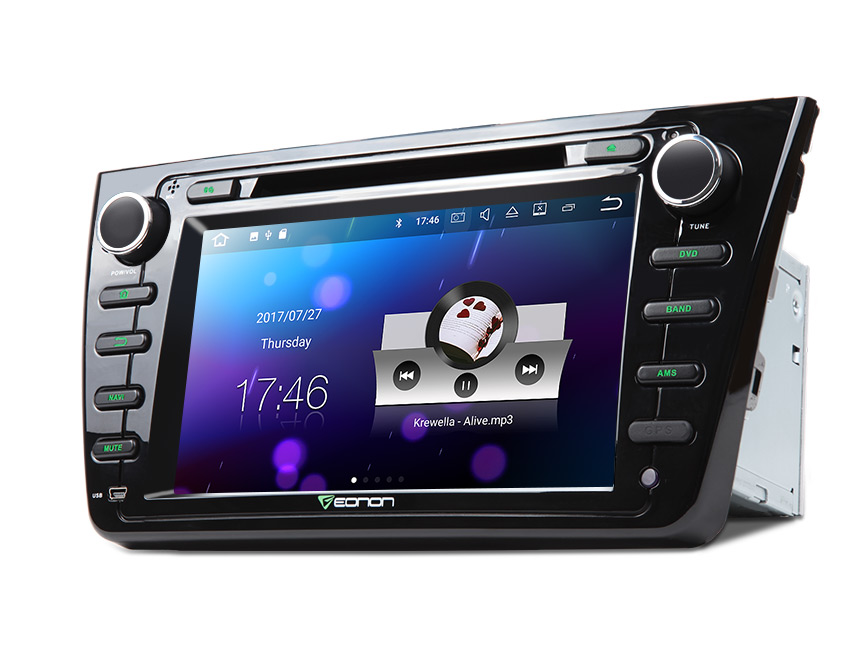 Mazda 6 2009-2012 Android 7.1 In-Dash 2 Din CD DVD Car Stereo Receiver With High Resolution Audio Compatibility USB AUX Inputs Built-in Bluetooth Dual Phone Connection Car GPS Navigation 8 Inch AM FM Car Radio Player