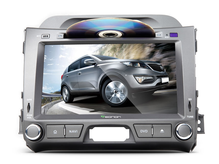 KIA Sportage Series 3 Android 7. 1 In Dash Car Stereo GPS Navigation System with 8 Inch HD Digital TouchScreen Quad-core DVD CD Player with Built in Bluetooth Receiver Head Unit Car Radio WiFi AM/FM Radio Support backup Camera DVR Steering Wheel Control