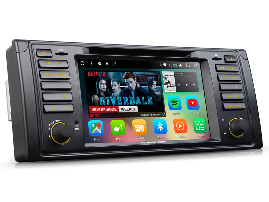 BMW E39 1996-2002 Android 7.1 Car DVD Bluetooth Receiver 2 GB RAM Octa-core Car GPS Navigation System 7 Inch HD Capacitive Touchscreen Multimedia Car DVD Player with 32GB ROM & 26GB for Apps In Dash Car Radio With Steering Wheel Control 3G WiFi Connection