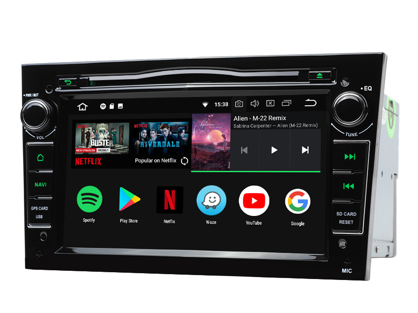 Opel/Vauxhall/Holden Android 8.0 Oreo 4G RAM, Octa-core & 32G ROM Split Screen and PIP Multitasking 7 Inch Double Din Touch Screen Car DVD Player Car GPS Navigation Bright Black Version