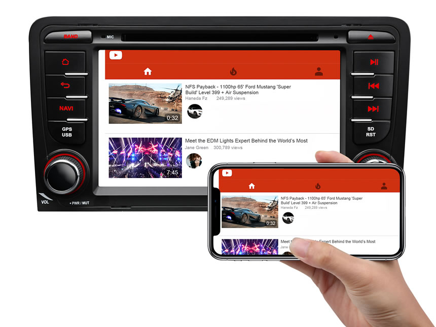 Designed for Audi A3/S3(2003-2011) Android 8.0 Oreo 4G RAM, Octa-Core & 32G ROM Split Screen and PIP Multitasking