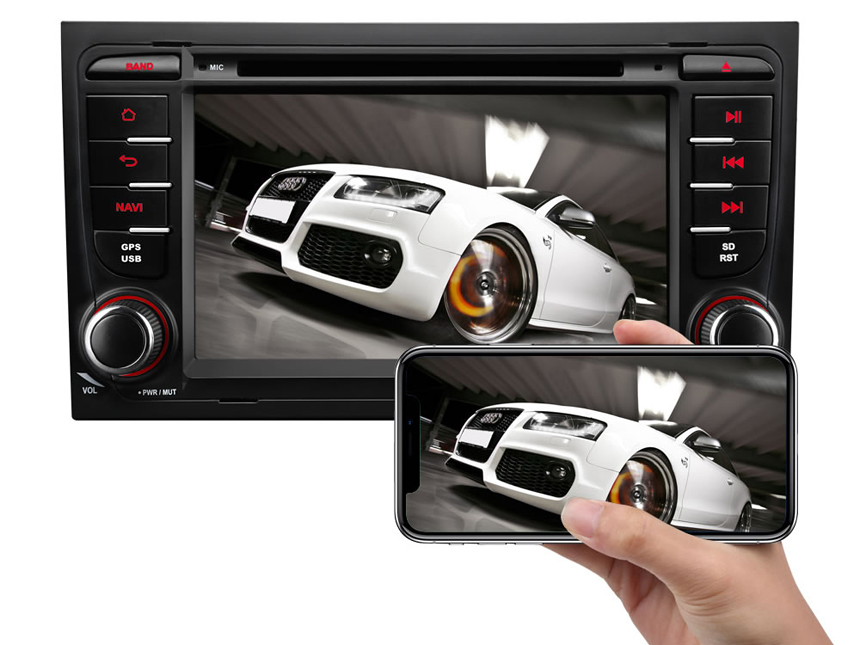 Designed for Audi A4/S4/RS4/Seat Exeo Android 8.0 Oreo 4G RAM High-end Rockchip Processor, Octa-Core & 32G ROM Split Screen and PIP Multitasking