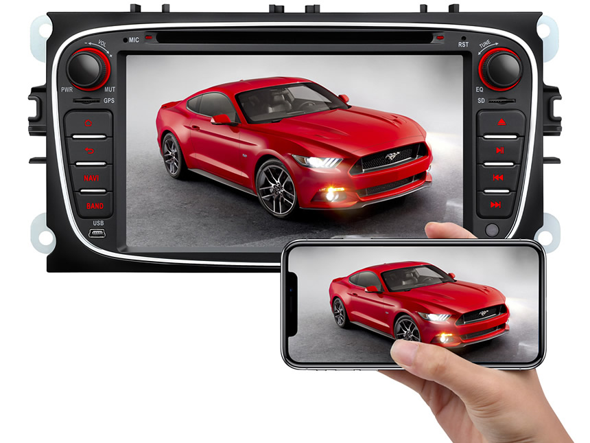 Ford Mondeo/Focus/S-max Android 8.0 Oreo 4G RAM, Octa-Core & 32G ROM Split Screen and PIP Multitasking