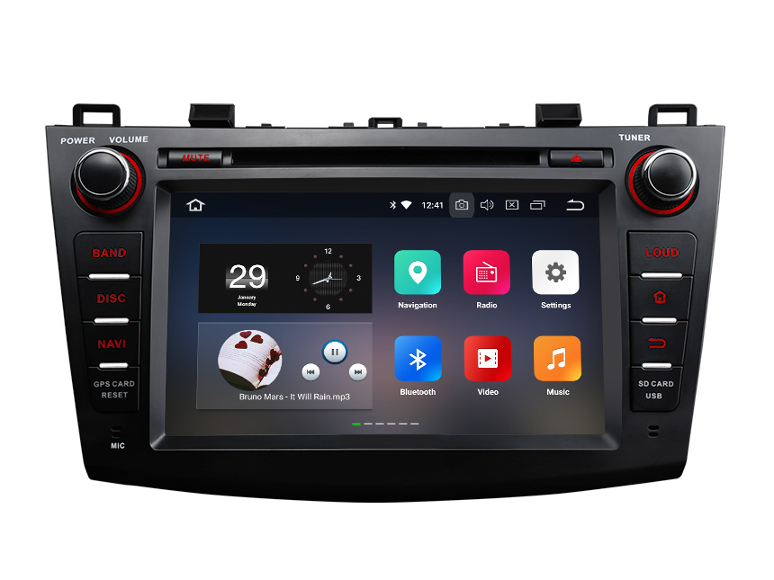 New Designed Mazda 3 2010 - 2013 Double DIN 8 Inch Android 8.0 & 4G RAM Indash Head Unit With Pro-Level Performance