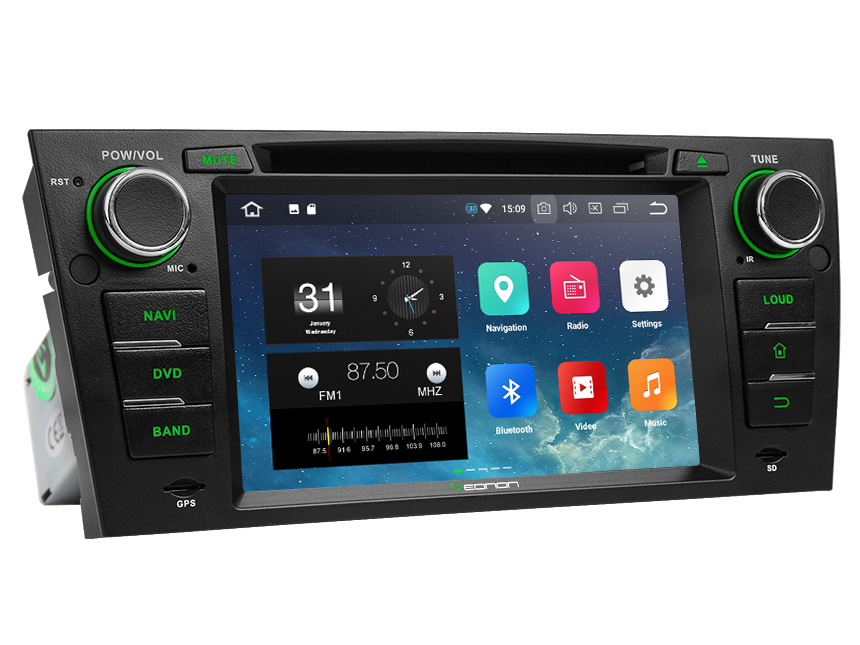 BMW E90/E91/E92/E93 Android 8.0 Car DVD Radio Player With Built-in Bluetooth 7 Inch HD Touchscreen In-Dash DVD/CD/AM/FM Car Stereo Receiver With Steering Wheel Control 4G RAM,Octa-core & 32G ROMCar Head Units GPS Navigation System With Subwoofer Audio Output DAB+ Digital Radio