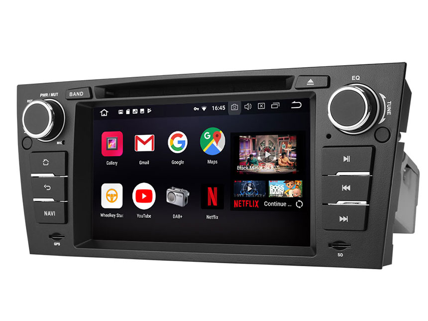 BMW E90/E91/E92/E93 3 Series 2005-2011 Android 8.0 Car DVD Radio Player With Built-in Bluetooth 7 Inch HD Touchscreen In-Dash DVD/CD/AM/FM Car Stereo Receiver With Steering Wheel Control 4G RAM,Octa-core & 32G ROMCar Head Units GPS Navigation System With Subwoofer Audio Output DAB+ Digital Radio