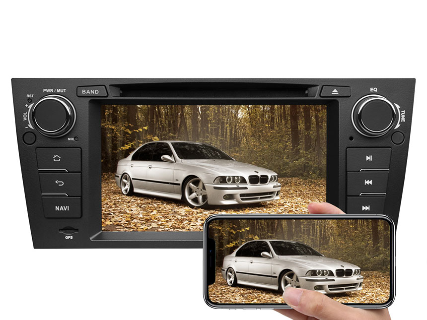BMW E90/E91/E92/E93 Android 8.0 Car DVD Radio Player With Built-in Bluetooth 7 Inch HD Touchscreen In-Dash DVD/CD/AM/FM Car Stereo Receiver With Steering Wheel Control 4G RAM Octa-core & 32G ROM Car Head Units GPS Navigation System With Subwoofer Audio Output DAB+ Digital Radio