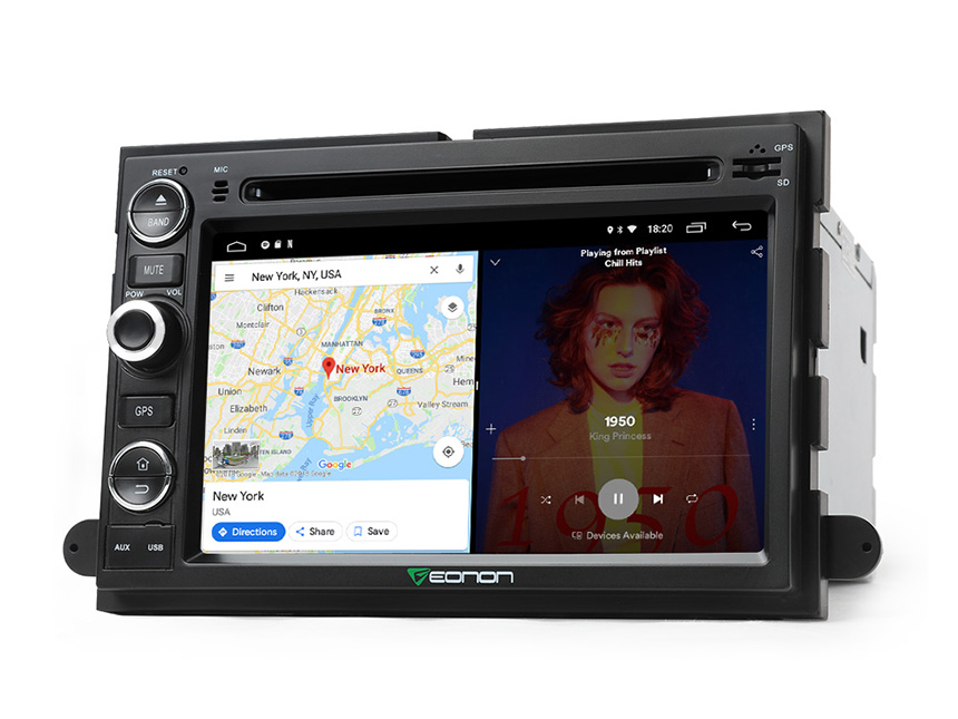 Ford F150 Android 8.1 2GB RAM & Quad-Core Processor 7 Inch GPS Navigation Multimedia System Car Radio GPS Navigation System Multimedia Support Bluetooth WiFi Connection 4G Dongle Split Screen Steering Wheel Control