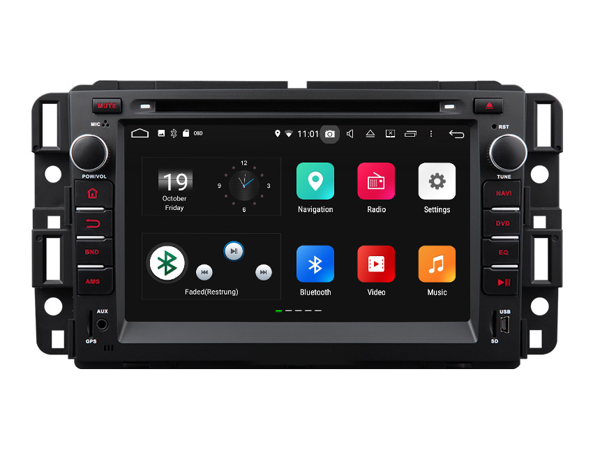 Chevrolet GMC Buick Newest Android 8.0 Oreo Fashion Multi-functional Car Stereo Upgrade RAM 4GB Factory Auto Radio Car GPS Navigation System 7 Inch Auto Stereo