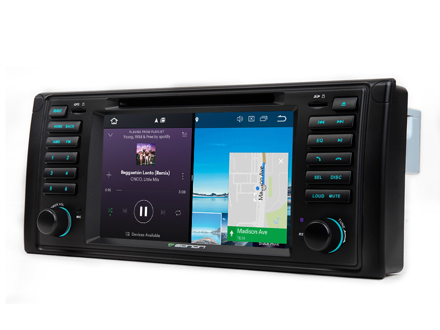 BMW E39 1995-2002 Android 8.0 Car GPS 4G RAM Octa-core & 32G ROM Bluetooth Receiver Octa-core Car GPS Navigation System 7 Inch HD Capacitive Touchscreen Multimedia Car DVD Player with 32GB ROM & 26GB for Apps In Dash Car Radio With Steering Wheel Control 3G WiFi Connection