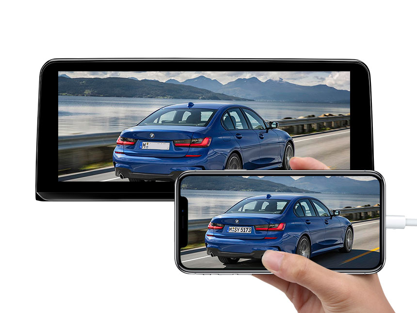 Eonon BMW 3 Series (F30/F31/F34/F35) BMW 4 Series (F32/F33/F36) Android 8.1 10.25 Inch HD Touchscreen Car GPS Navigation System Compatible With iDrive System Steering Wheel Control  Factory Car Radio DVD Player Bluetooth