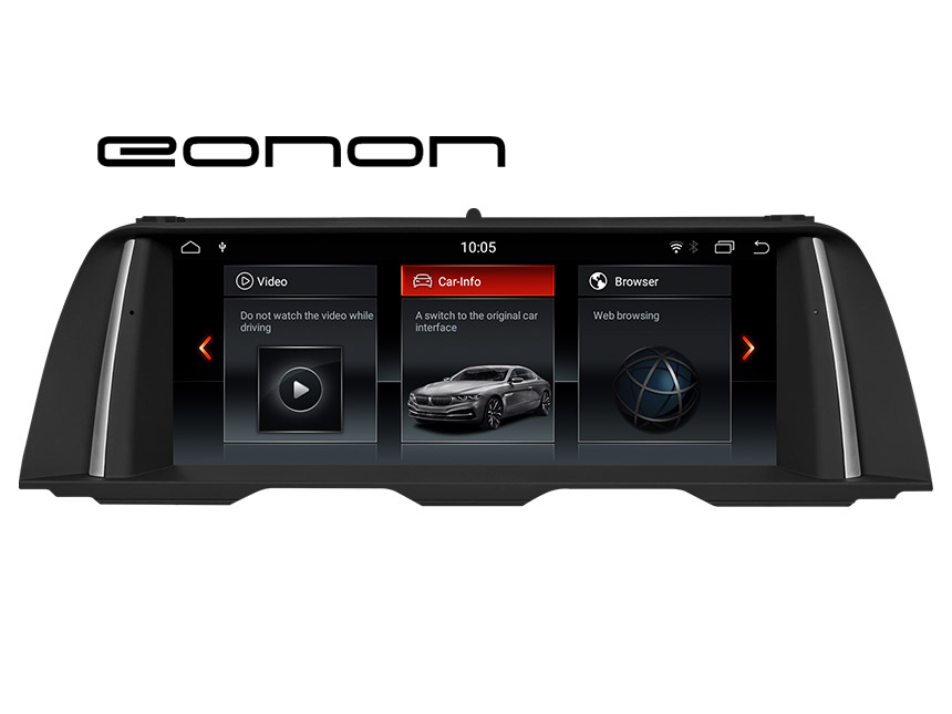 Eonon BMW 5 Series F10/F11(2013-2016) NBT Car Stereo Compatible With Apple/Android Car Auto Play Retain BMW iDrive System, CAR DVD, Bluetooth, SWC, Backup Cam etc. 10.25 Inch Anti-glare HD Touchscreen Android 8.1 OS 32G ROM GPS Navigation System Entertainment Radio