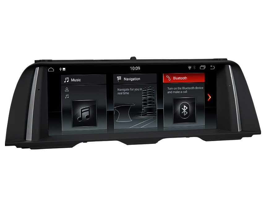 BMW 5 Series F10/F11(2013-2016) NBT Car Stereo Compatible With Apple/Android Car Auto Play Retain BMW iDrive System, CAR DVD, Bluetooth, SWC, Backup Cam etc. 10.25 Inch Anti-glare HD Touchscreen Android 8.1 OS 32G ROM GPS Navigation System Entertainment Radio
