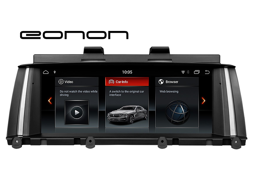 Eonon BMW X3 F25/X4 F26(2014-2016) NBT Car Stereo Support Apple/Android Car Auto Play Retain BMW iDrive System, CAR DVD, Bluetooth, SWC, Backup Cam etc. 8.8 Inch Anti-glare HD Touchscreen Android 8.1 OS 32G ROM In Dash Car Head Unit GPS Navigation System