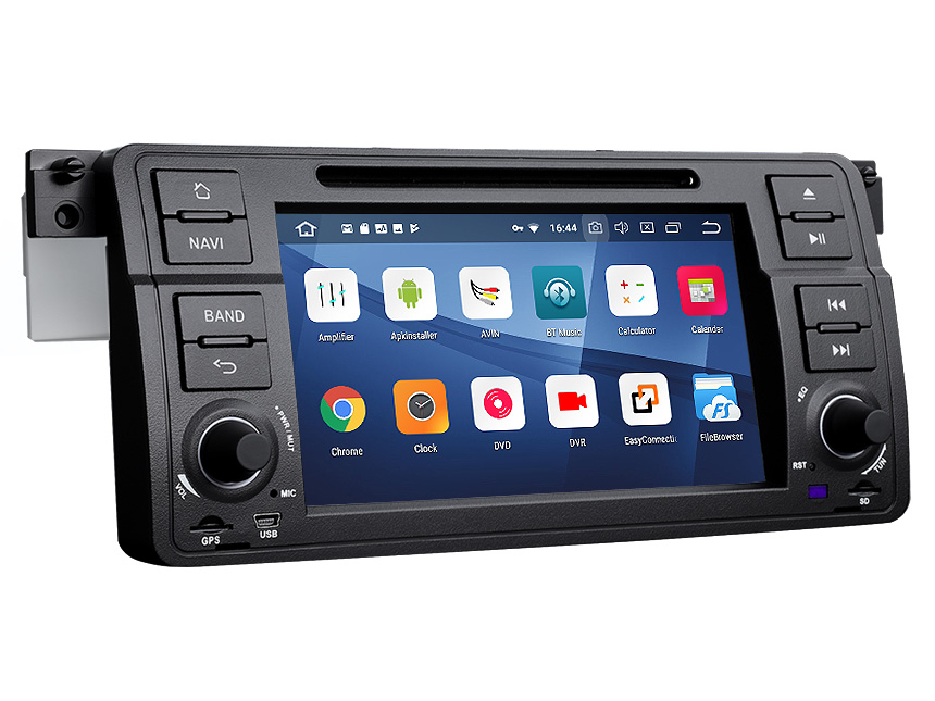 BMW E46 1999-2004 Android 8.1 Oreo Car Setreo 2GB RAM & 32G ROM Quad-Core Processor Car GPS Navigation System 7 Inch HD Capacitive Touchscreen Car DVD Player Bluetooth Receiver Support Steering Wheel Control 4G WiFi Connection