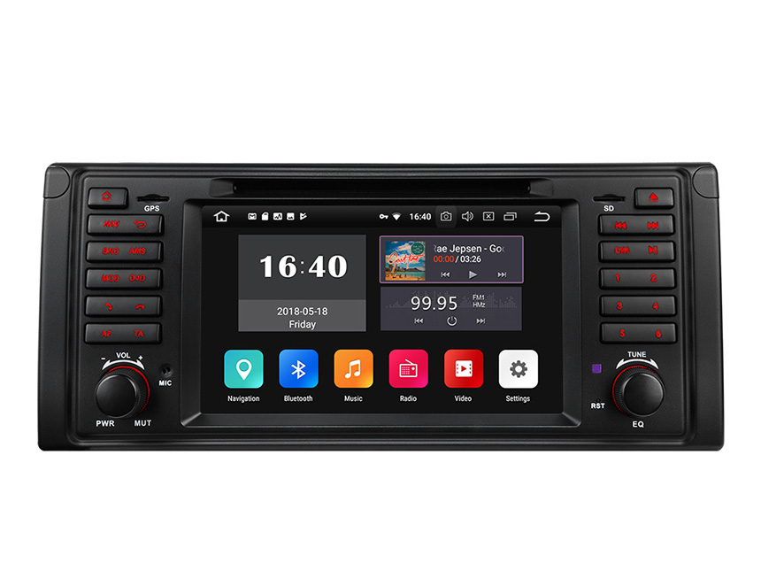 BMW E39 1995-2002 Android 8.1 Oreo Car Stereo 2GB RAM & 32G ROM Quad-Core Processor Car GPS Navigation System 7 Inch HD Capacitive Touchscreen Car DVD Player Bluetooth Receiver Support Steering Wheel Control 4G WiFi Connection