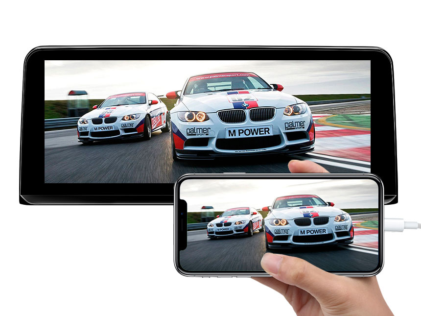 Eonon BMW 3 Series F30/F31/F34/F35 BMW 4 Series F32/F33/F36 Android 9.0 Pie Car GPS Navigation with 10.25 Inch IPS Digital Touchscreen Compatible with Original BMW iDrive System Support Android Auto/Apple Car Auto Play Bluetooth Split Screen
