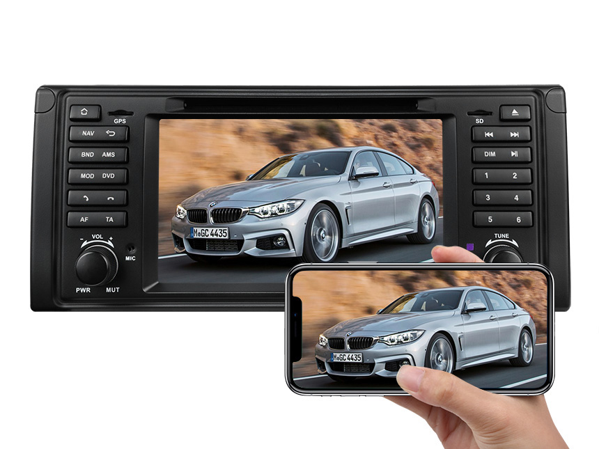 Eonon BMW E39 1995-2002 Android 9.0 Pie Multifunctional Car Stereo with 2GB RAM 32G ROM 7 Inch HD Capacitive Touchscreen Car GPS Navigation System Support Bluetooth 5.0 4G Wi-Fi Steering Wheel Control Car Radio DVD Player