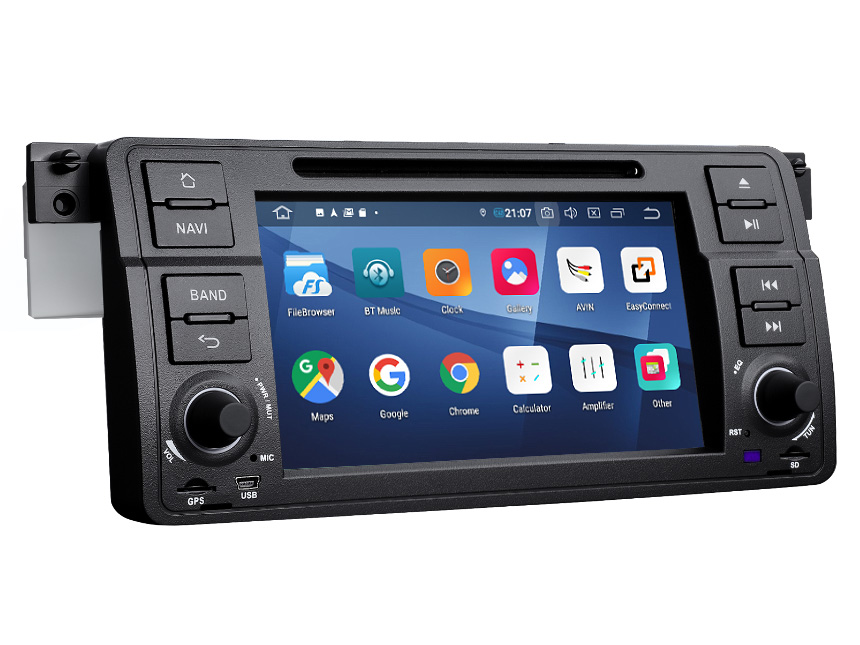 BMW E46 1999-2004 Android 9.0 Pie 2GB RAM 32G ROM Quad-Core Processor Bluetooth 5.0 Car Stereo In Dash Car Head Unit Double Din Stereo Support Steering Wheel Control 4G WiFi Connection Entertainment Radio Car DVD Player