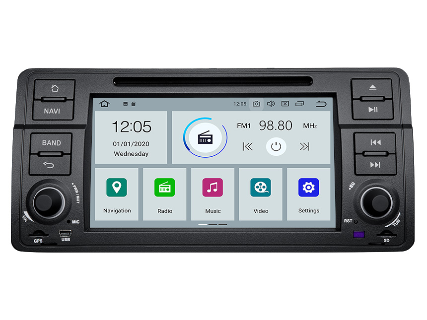Eonon BMW 3 Series E46 Android 10 Car Stereo 7 Inch HD Touchscreen Car GPS Navigation Head Unit with 32G ROM Bluetooth 5.0 Car DVD Player