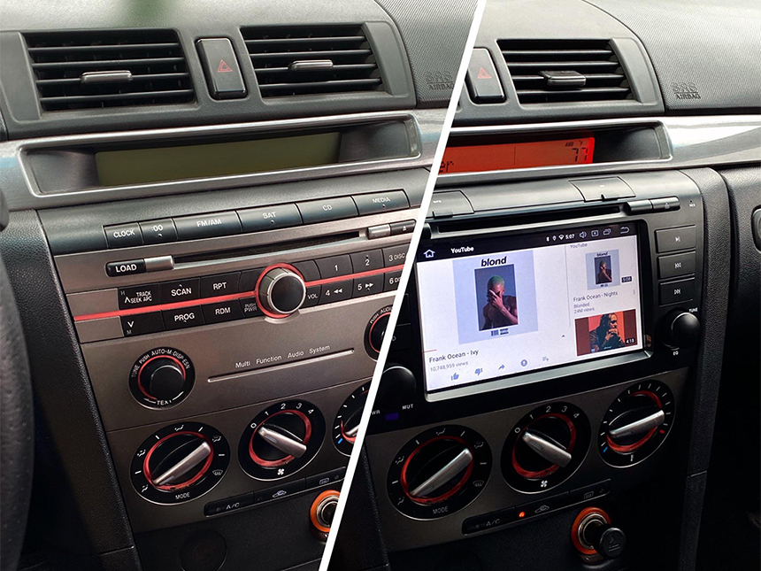 Eonon Mazda 3 2004-2009 Android 10 Car Stereo 7 Inch Touchscreen Car GPS Navigation Head Unit with 32G ROM Bluetooth 5.0 Car DVD Player