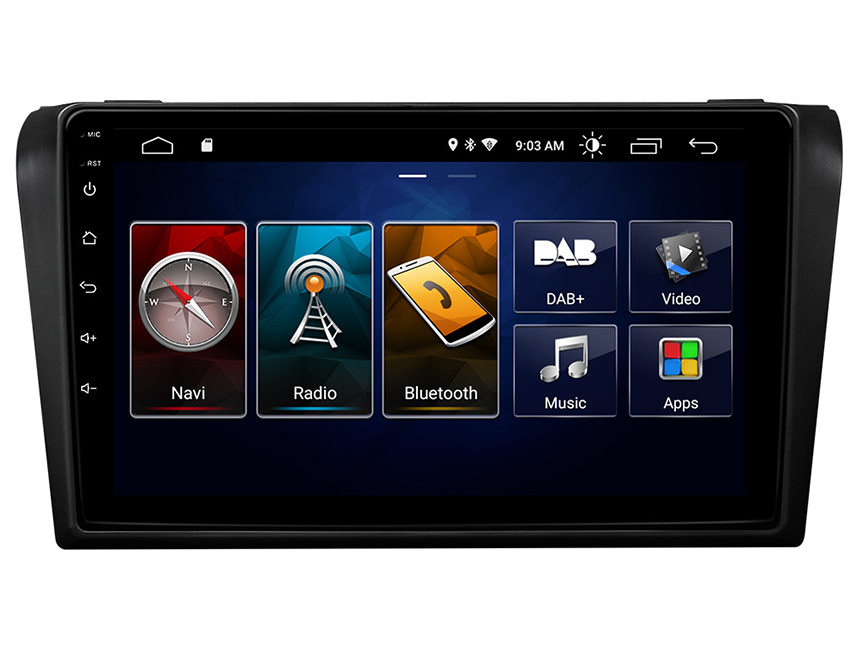 Eonon Mazda 3 2004-2009 Android 10 Car Stereo 9 Inch IPS Full Touchscreen Car GPS Navigation Radio with Built-in CarPlay and DSP