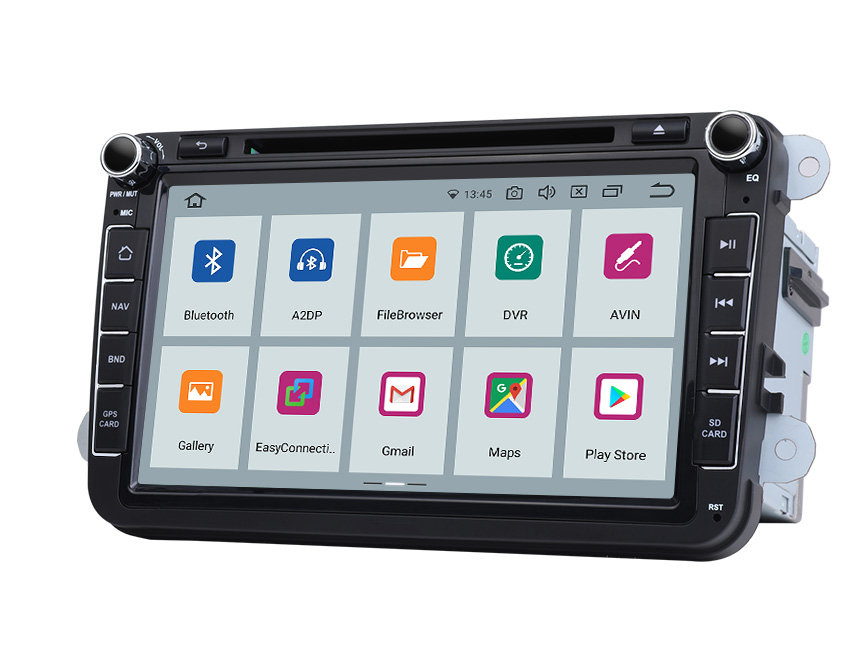 Eonon Volkswagen SEAT SKODA Android 10 Head Unit 8 Inch Touchscreen Car GPS Navigation Radio with Bluetooth Car DVD Player