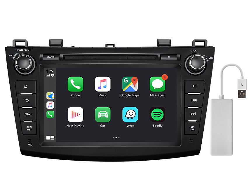 Eonon Mazda 3 2010-2013 Android 10 Car Stereo 8 Inch Touchscreen Car GPS Navigation Head Unit with 32G ROM Bluetooth 5.0 Car DVD Player