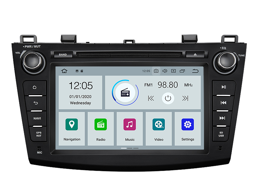 Eonon Mazda 3 2010-2013 Android 10 Car Stereo 8 Inch IPS Display Car GPS Navigation Head Unit with 32G ROM Bluetooth 5.0 Car DVD Player