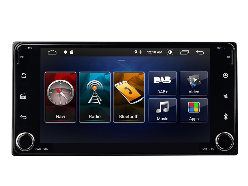 Eonon Toyota Android 10 Car Stereo 7 Inch IPS Display Car GPS Navigation Built-in Apple CarPlay Head Unit with 32G ROM Built-in DSP Car Radio