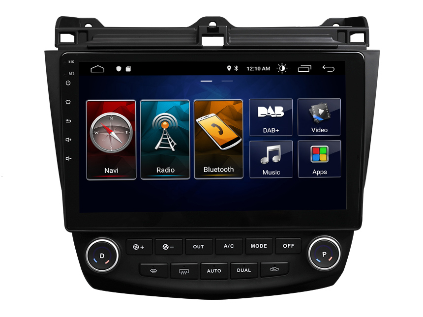 Eonon Honda Accord 2003-2007 10.1 Inch Android 10 Car Stereo Built-in Apple CarPlay Car GPS Navigation Built-in DSP Head Unit