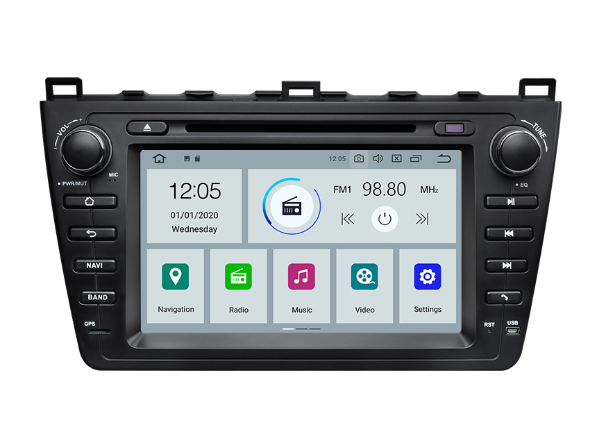 Eonon Mazda 6 2009-2012 Android 10 Car Stereo 8 Inch Touchscreen Car GPS Navigation Head Unit with 32G ROM Bluetooth 5.0 Car DVD Player