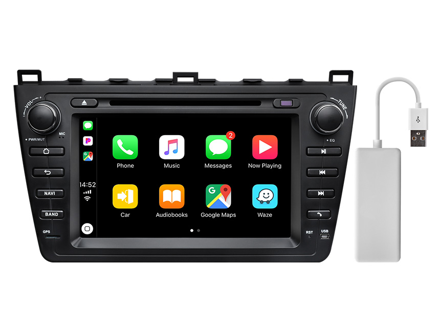 Eonon Mazda 6 2009-2012 Android 10 Car Stereo 8 Inch IPS Display Car GPS Navigation Head Unit with 32G ROM Bluetooth 5.0 Car DVD Player