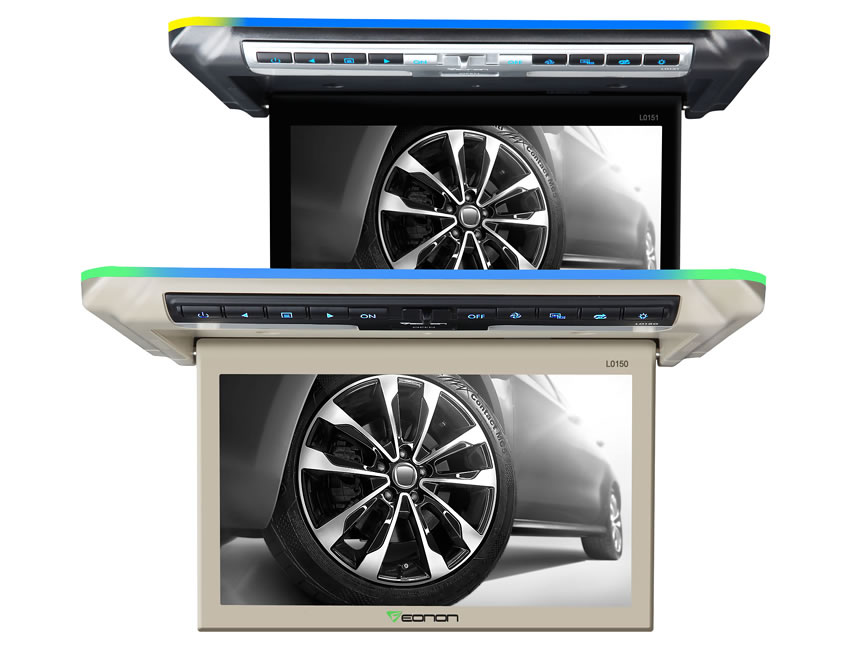 10.1 Inch Digital Screen Ultra-thin Design In-Car Flip Down Monitor with Built-in Ionizers Air Purification Function