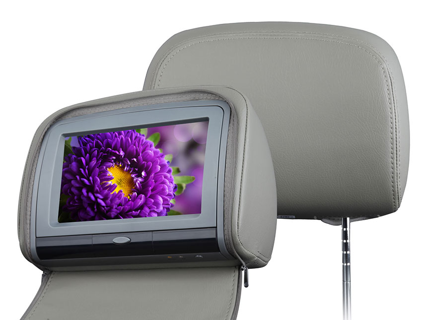 2×9 Inch Digital Touch Screen Headrest DVD Player Video Monitor with Zipper Cover