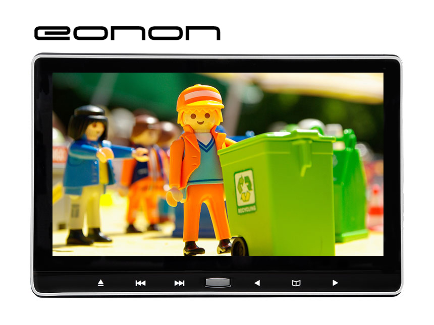 Eonon Headrest DVD Player with 11.6 Inch Screen Headrest Monitor Support Digital Touch Button HDMI USB SD Port