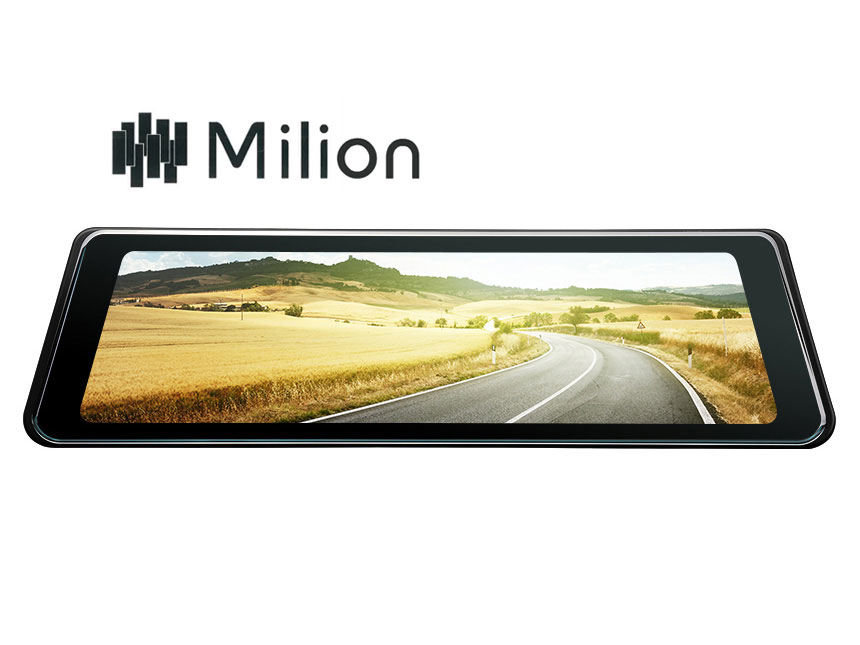 "Eonon SMEDIA 9.88"" Full Touch Screen Streaming Media AHD Backup Camera, Dual Lens Mirror Dashcam with 140°Wide Angle, LDWS, GPS and G-Sensor"
