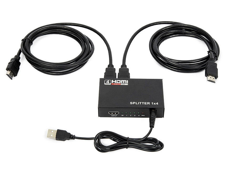 Eonon HDMI Splitter 1 in 4 out for Full HD 1080P High Resolution & 3D Support